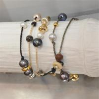 5 rows bracelet with lucky charms'