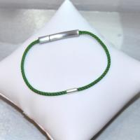 NICOLAS bracelet braided round end green