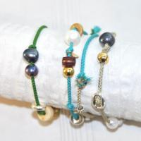 5 rows bracelet with lucky charms' gold